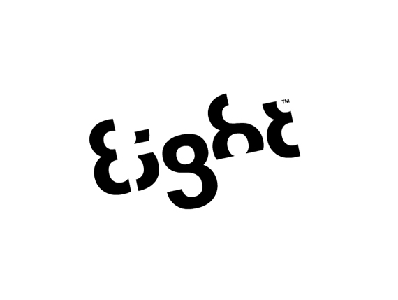 'Eight', logo and typeface